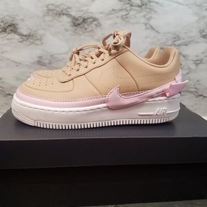 Womens Nike Airforce 1 Af1 JesterXX New Beige Pink